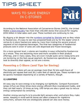 Energy Saving Tips for C-Stores