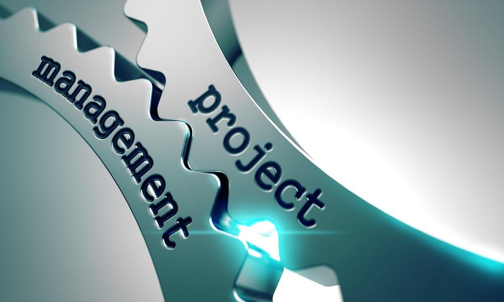 Project Management Concept on the Mechanism of Metal Cogwheels..jpeg