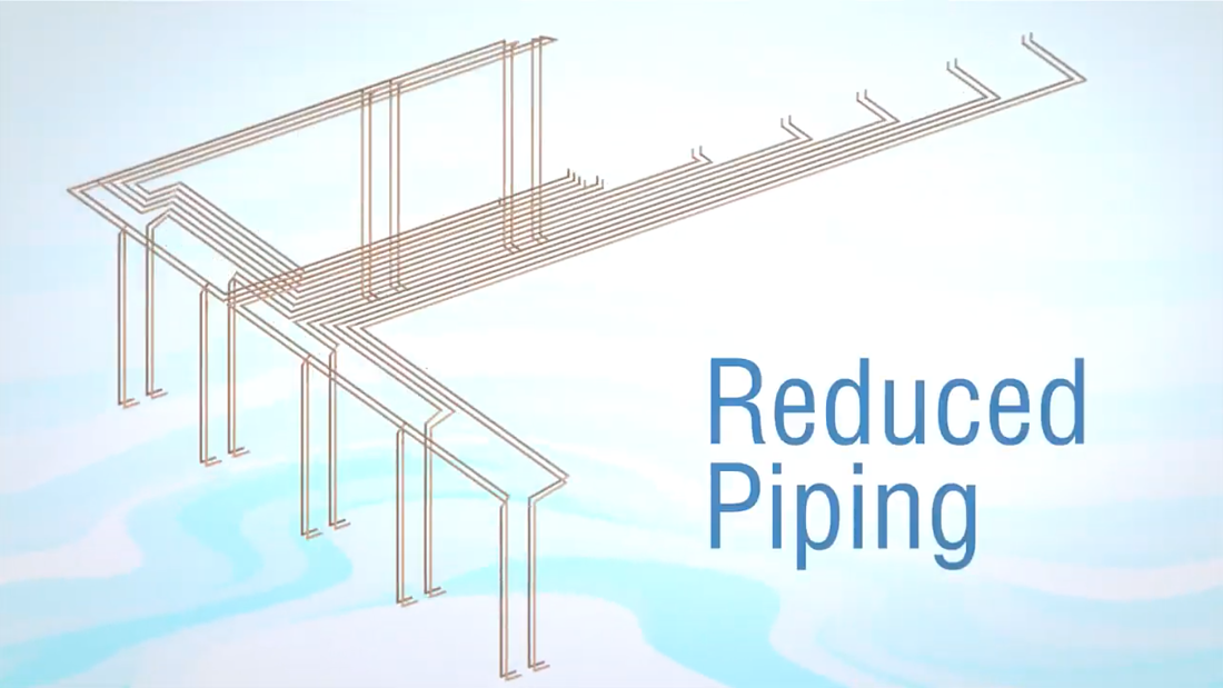 commercial refrigeration reduced piping