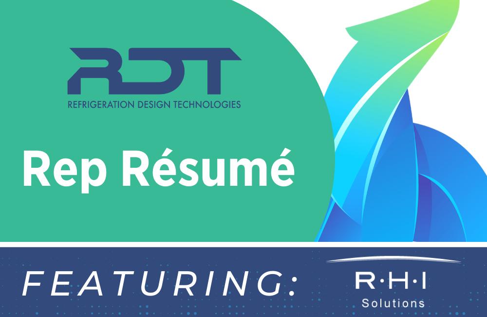 Rep Resume: RHI Solutions